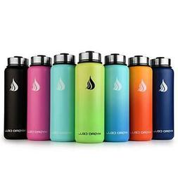 HYDRO CELL Stainless Steel Water Bottle with Straw & Wide Mo