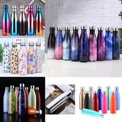 stainless steel water bottle double wall vacuum