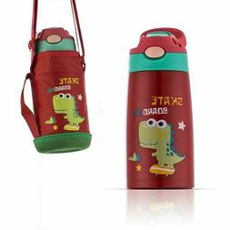 Stainless Steel Water Bottle for Kids with Straw Unicorn Vac