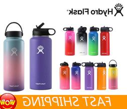 Hydro Flask Stainless Steel Water Bottle Insulated Straw Lid