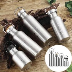 Stainless Steel Water Bottle Single Walled Vacuum Insulated