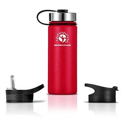Stainless Steel Water Bottle/Thermos: 22 Oz. Double Wa