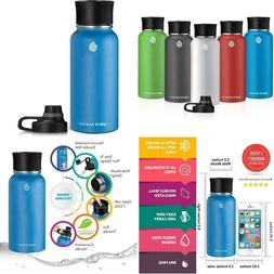 Swig Savvy Stainless Steel Water Bottle - Vacuum Insulated D