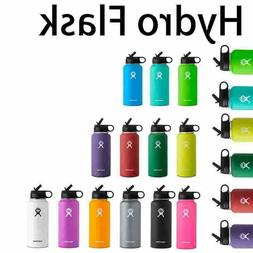 Hydro Flask Stainless Steel water Bottle Wide Mouth Cap Stra