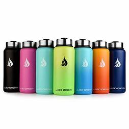 Stainless Steel Water Bottle with Straw & Wide Mouth Lids Do