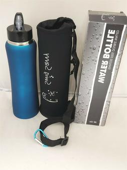Swig Savvy Stainless Steel Water Bottle with Straw Lid BPA-F