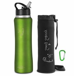 Stainless Steel Water Bottles Cooler 32 OZ  Leak Proof Flip