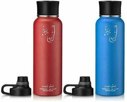 stainless steel wide mouth insulated water bottle