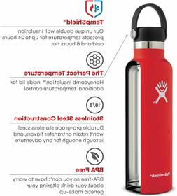 Hydro Flask Standard Mouth Stainless Steel Bottle and Flex C