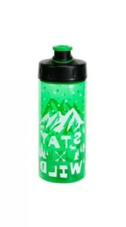 """Cool Gear """"STAY WILD"""" 16 Oz BPA Free Water Bottle New"""