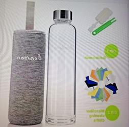 BONISON Stylish High quality Borosilicate Glass Water Bottle