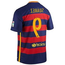 Nike Suarez #9 Barcelona Home Soccer Jersey 2015/2016 YOUTH.