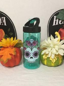 Cool Gear Sugar Skull 16 Oz BPA Free Water Bottle New