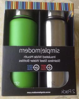 Simple Modern Summit 32oz bottle 2pk Silver water liquid met