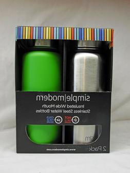 2 Pack Simple Modern 32oz Summit Vaccumm Insulated Stainless