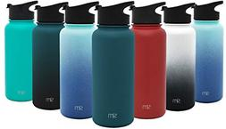 Summit Water Bottle + Extra Lid Wide Mouth Vacuum Insulated