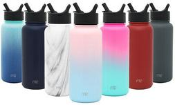 summit water bottle with straw lid vacuum