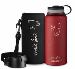 Swig Savvy's Stainless Steel Insulated Water Bottle, Wide