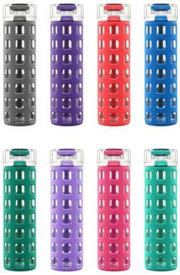 Ello Syndicate BPA-Free 20 oz Glass Water Bottle with Flip L