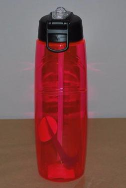 Nike T1 Flow Swoosh Water Bottle 32oz, Vivid Pink