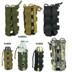 Tactical Molle Water Bottle Carrier Holder Pouch Outdoor Adj