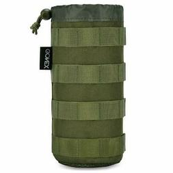 Tactical Molle Water Bottle Pouch H2O Hydration Carrier with