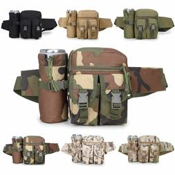 Tactical Waist Pack Water Bottle Belt Bum Bags Men's Utility