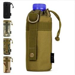 Tactical Water Bottle Pouch Travel Molle Kettle Bag Holder B