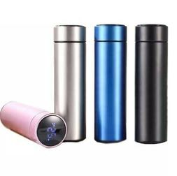Team Smart Vacuum Insulated Water Bottle with LED Temperatur