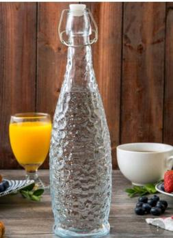 Core Glassware Textured Swing Top CLEAR Water Bottles Reusab