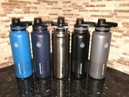 Takeya Thermo Flask Stainless Steel 40 oz Water Bottles Blac