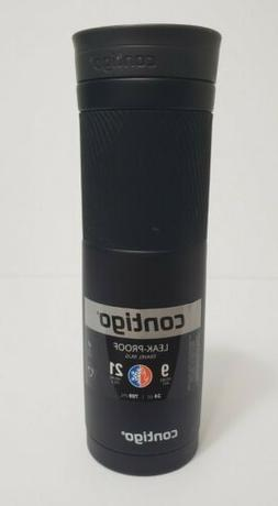 Contigo Thermos Black Bottle Stainless Steel Travel Mug 24 o