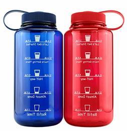 Cornucopia Brands Timed Water Bottles 32-Ounce Combo Pack ;