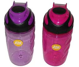 Translucent Plastic Water Bottles with Screw On Flip-Top Sna