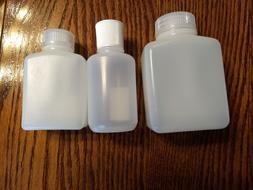 ceb1c6b91f Nalgene Travel Bottles 4 oz Wide Mouth Rectangular Round Sto