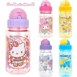 Sanrio Tritan BPA Free Straw Water Bottle Kids Flip-top Cap