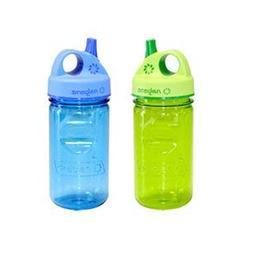 NALGENE Tritan Grip-N-Gulp BPA-Free Water Bottle,Purple,12 O