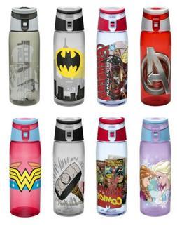 Zak Designs Tritan Water Bottle with Flip-top Cap, 28 Styles
