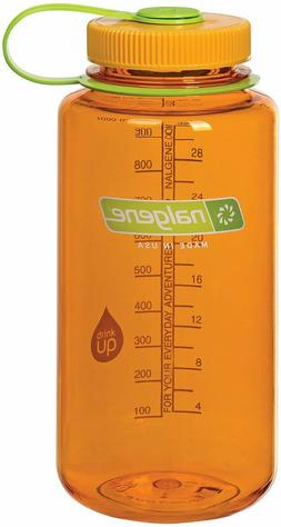 Nalgene Tritan Wide Mouth 32 oz. Water Bottle, Clementine