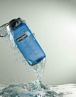 Nalgene Tritan Wide Mouth BPA-Free Water Bottle, Blue w/ Bla