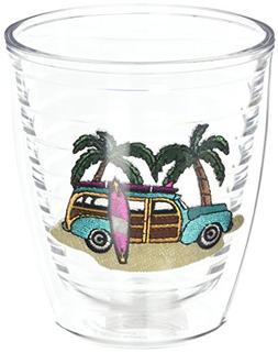 Tervis 1035982 Green Woodie Tumbler with Emblem 12oz, Clear