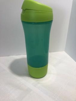 Tupperware 20 oz Sports Water Bottle~ Flip Top~ Green~New