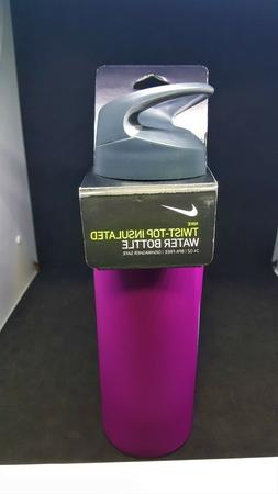 NIKE TWIST TOP INSULATED WATER BOTTLE STAINLESS STEEL 24 OZ
