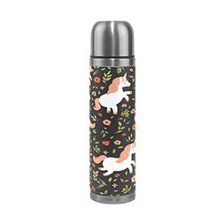 ALAZA Unicorn Floral Water Bottle Stainless Steel Vacuum Ins