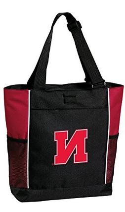 Broad Bay University of Nebraska Tote Bags Red Nebraska Husk