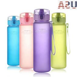 US BPA Free Leak Proof Sports Outdoor Water Bottle Tour Hiki