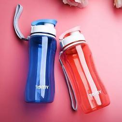 us men women sports water bottle fitness