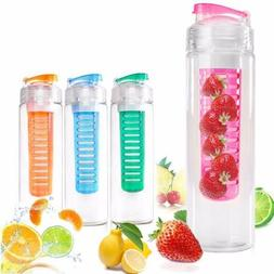 Portable Juice Water Bottle Infusing Infuser Fruit  Lemon He