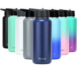 DRINCO Insulated Stainless Steel Water Bottle 32oz w straw l