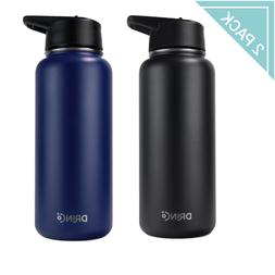 Vacuum Insulated Stainless Steel Sport Water Bottle,Wide Mou